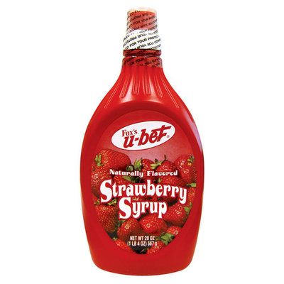 H. Fox Co Fox's U-Bet Strawberry Syrup 20 oz. Squeeze Bottle