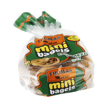 Thomas' Mini Bagels 100% Whole Wheat - 10 CT