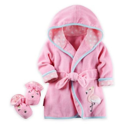 Carter's® Baby Girls' Flamingo Robe & Bootie Set