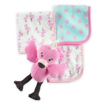 Carter's® Baby Girls' Flamingo Toy & Washcloth Set