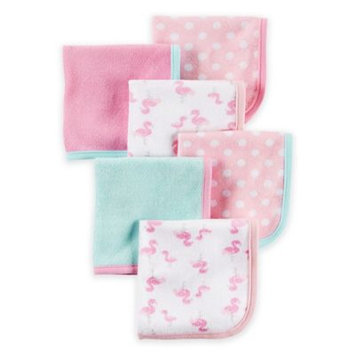 Carter's® Baby Girls' 6-Pack Flamingo Washcloths