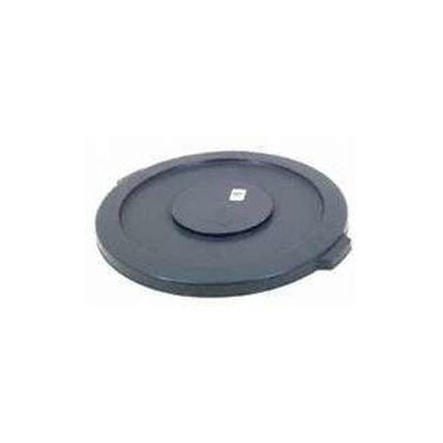 Newell Rubbermaid Commercial 264560BLK 44-Gallon Black/ Gray Brute Can Lid Plast
