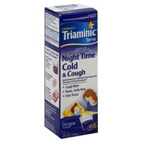 Triaminic Syrup Children's Night Time Cold & Cough Syrup, Grape Flavor, 4 oz.