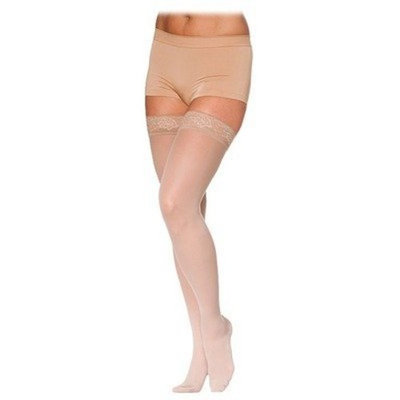 Sigvaris 780 EverSheer 20-30 mmHg Women's Closed Toe Thigh High Sock Size: L4, Color: Black 99