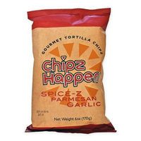 Chipz Happen Tortilla Chips, Parmesan Garlic, 6 Oz, Pack Of 12