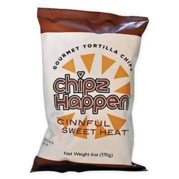 Chipz Happen Tortilla Chips, Cinnful Sweet Heat, 6 Oz, Pack Of 12
