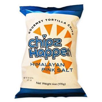 Chipz Happen Tortilla Chips, Himalayan Pink Salt, 6 Oz, Pack Of 12
