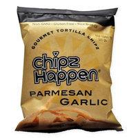 Chipz Happen Tortilla Chips, Spice-Z Parmesan Garlic, 1.5 Oz, Pack Of 24