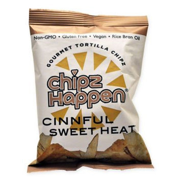 Chipz Happen Tortilla Chips, Cinnful Sweet Heat, 1.5 Oz, Pack Of 24