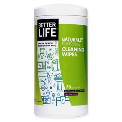 Better Life Naturally Filth-Fighting Clary Sage & Citrus Cleaning Wipes - 70 Count