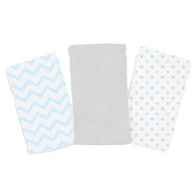 Summer Infant SwaddleMe 3-Pack Cloud Blanket - Blue Chevron & Stars
