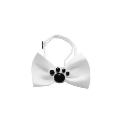 Ahi Black Paws Chipper White Bow Tie