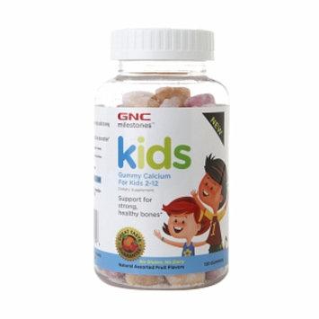 GNC Milestones Gummy Calcium Kids 2-12, Assorted Fruit, 120 ea