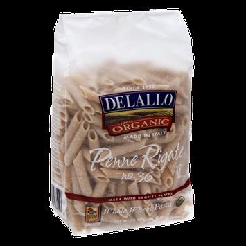 Delallo 100% Organic Penne Rigate Whole Wheat Pasta