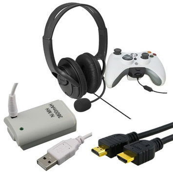 Ascend Headset with Microphone/ Battery/ HDMI Cable for Microsoft Xbox 360