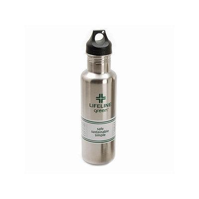 Lifeline First Aid Green Food Grade Stainless Steel Bottle 27oz