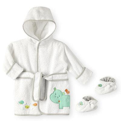 Koala Baby Bath Robe and Booties - Hippo