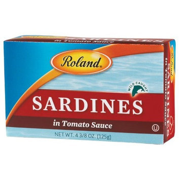 Roland Sardines in Tomato Sauce, 4.38-Ounce Cans (Pack of 20)