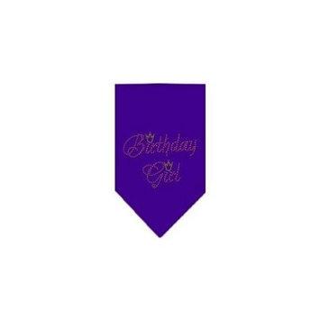 Ahi Birthday Girl Rhinestone Bandana Purple Large