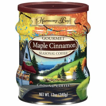 Harmony Bay Maple Cinnamon Gourmet Seasonal Ground Coffee