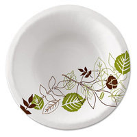 Dixie Ultra Pathways Heavyweight Paper Bowls, 12-oz, Green/Burgundy