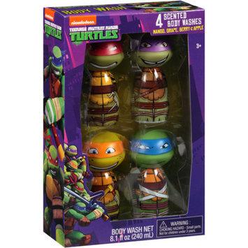 TMNT-NICKLODEON Nickelodeon Teenage Mutant Ninja Turtles Scented Body Washes Bath Gift Set, 4 pc