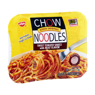 Nissin Chow Noodles Sweet Tomato Sauce with Meat Flavor Ramen Noodles