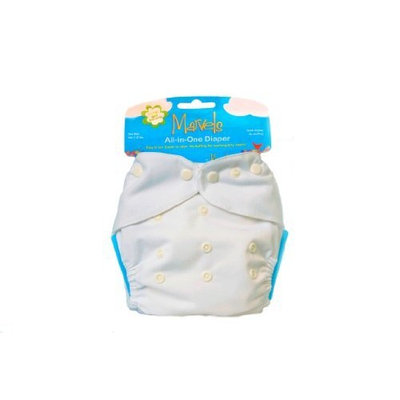 Kissaluvs Kissa's One Size All-In-One Diaper, White