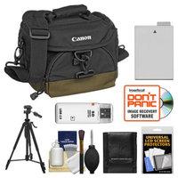 Canon 100EG Digital SLR Camera Case Gadget Bag + LP-E8 Battery + Tripod + Accessory Kit for Rebel T2i, T3i & T4i