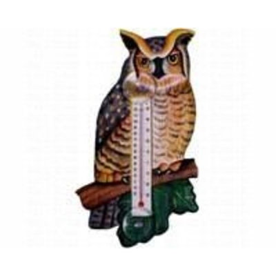 Bobbo Inc Small Great Horned Owl Thermometer
