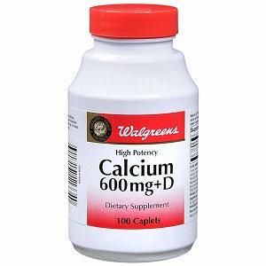Walgreens Calcium 600mg+D Caplets
