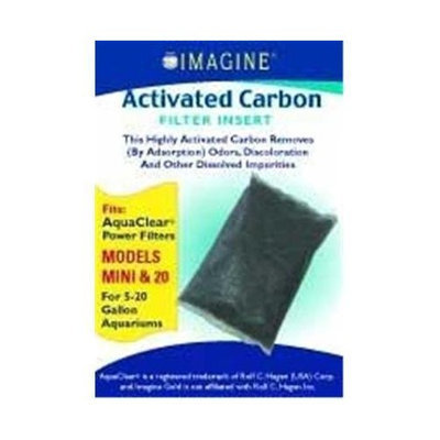 Imagine Gold Llc Imagine Gold Aquaclear 20 Active Carbon Mini Activated Carbon Fits Aquaclear 20 Filter Cartridges