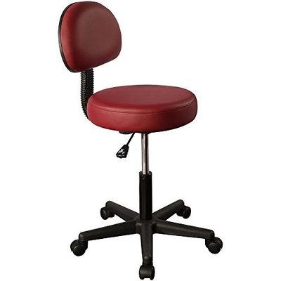 Swivel Masseuse Stool with Backrest