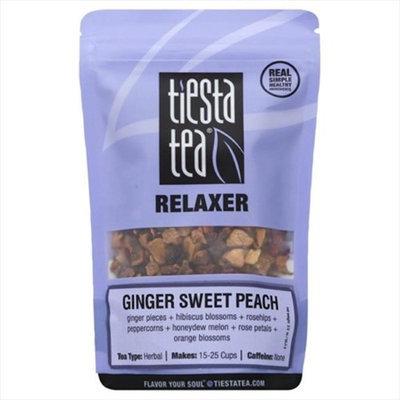 Tiesta Tea 2 oz. Ginger Sweet Peach Relaxer Tea Case Of 6