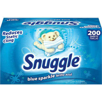 Snuggle Blue Sparkle Fabric Softener Dryer Sheets With Fresh Release