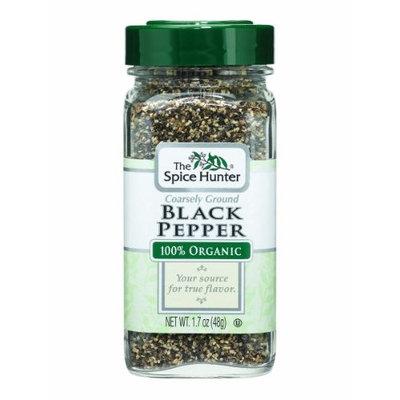 The Spice Hunter Pepper, Black, Coarse, Ground, Organic, 1.7-Ounce Jar