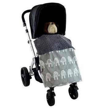 Blue Baby Bum Elephant Stroller Blankie Grey