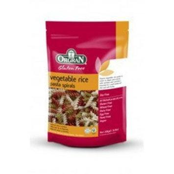Orgran Vegetable Rice Pasta Spirals Gluten Free -- 8.8 oz
