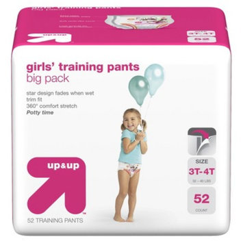 up & up Girls' Training Pants Size 3T-4T 52 ct
