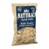 Utz Natural Gourmet Potato Chips Gluten Free Lightly Salted Kettle Cooked