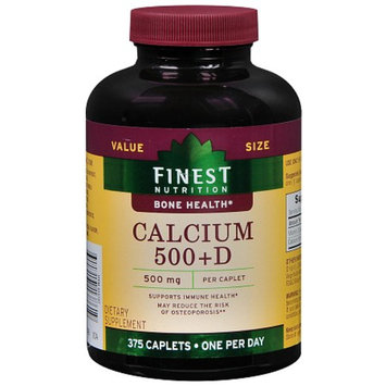 Finest Nutrition Calcium 500 mg + D Dietary Supplement Caplets