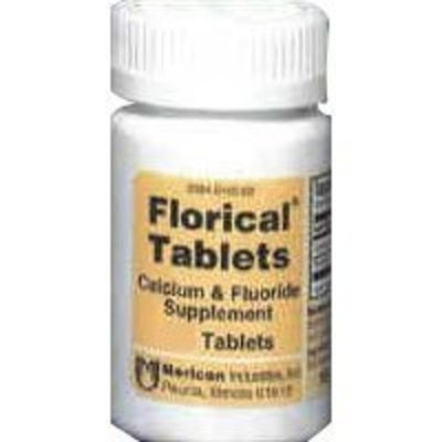 MERICON INDUSTRIES INC Florical Calcium and Fluoride supplements By Mericon Industries - 100 Tablets