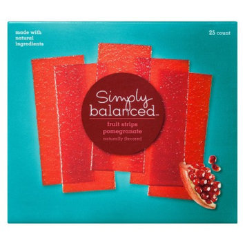 Simply Balanced Pomegranate Fruit Strips 25 ct
