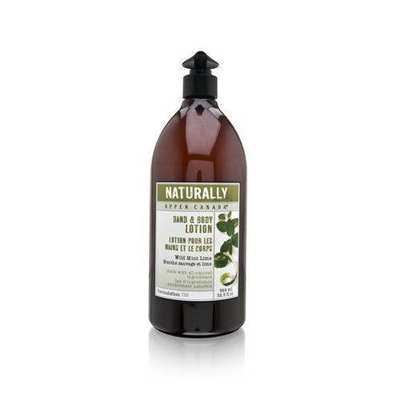 Upper Canada Soap Naturally Hand and Body Lotion, Wild Mint Lime, 32-Ounce