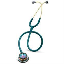 3M Littmann II S.E. Stethoscope, Rainbow-Finish Chestpiece, Caribbean Blue Tube, 28 inch, 2823