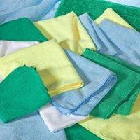 All Rags MFMP12BL Microfiber Cloth Blue 12 x 12 In.