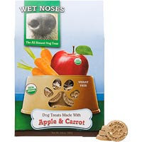 Wet Noses Organic Dog Treat Apples and Carrots
