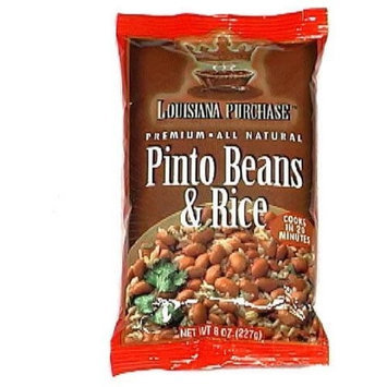 Louisiana Purchase Rice Bowl Pinto Beans, 8-Ounce (Pack of 6)