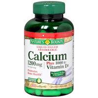 Nature's Bounty Calcium 1200mg Plus 1000IU Vitamin D3