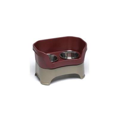 Super-dog Pet Food Company Neater Feeder Small Elevated Feeder Cranberry